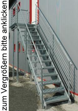 treppenbausatz aussentreppe nottreppe lagertreppe stahltreppe treppe ebay. Black Bedroom Furniture Sets. Home Design Ideas